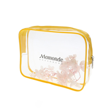 Promotion custom clear plastic pvc cosmetic packing zipper bag cosmetic pouch with logos
