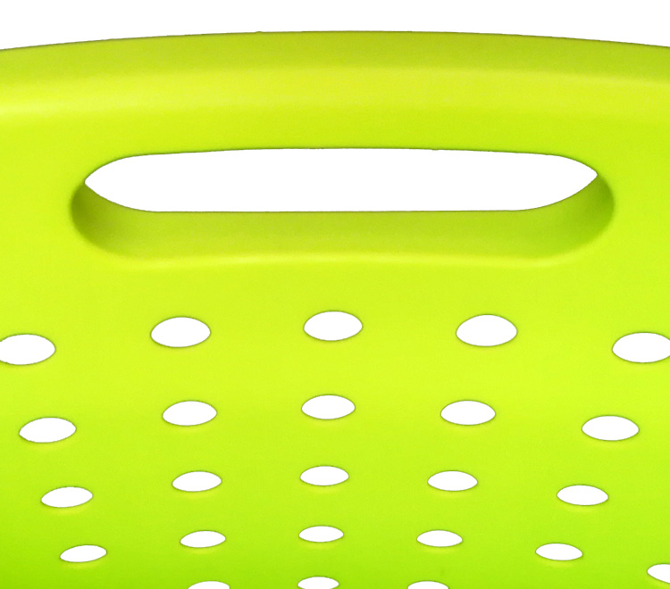 Houseware Style Plastic Waste Basket Laundry Hamper Shelf