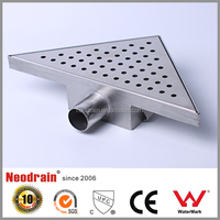 Brass square floor channel drain
