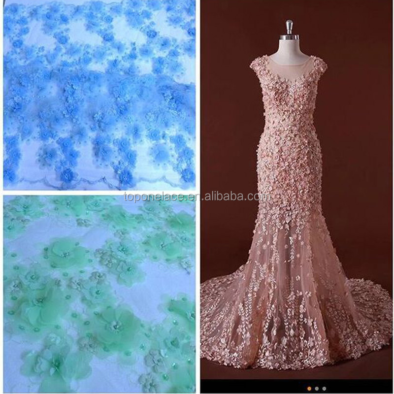 2017 new deign lime green lace fabric/davids bridal fabric/dress making lace fabric