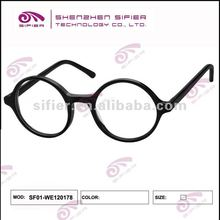 2012 New Style Round Black Frame Glasses Full Frame By Professional Designer