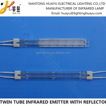 Gold reflector Twin Tube infrared emitter Medium wave IR emitter lamp