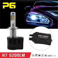 P6 55w 12v H7 LED car light led auto headlight lamp conversion kit with excellent performance auto parts