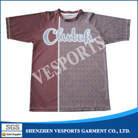 OEM Latest design v neck t-shirt with 100% polyester