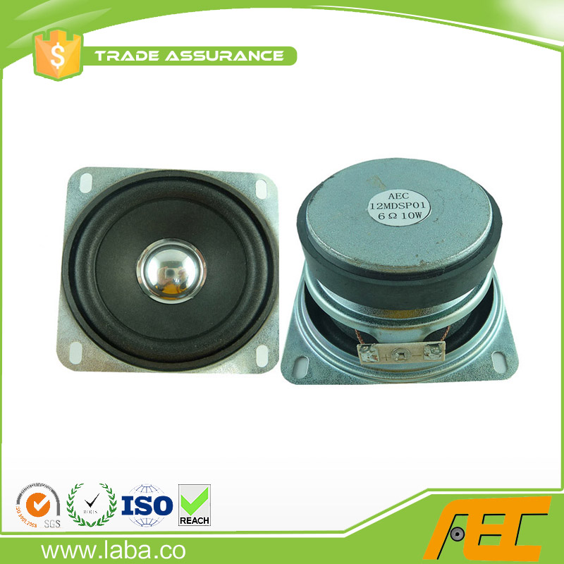 Good Sound Square Shape Speaker 77*77mm 10w 6ohm Small Loudspeaker