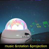 2013 new led rotation music projection night light kid's gift