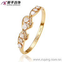 Fresh Design wholesale Xuping 2016 charm stone bangle 18k gold jewelry