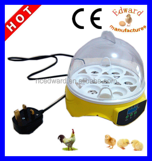 HHD brand automatic 7 eggs incubator gift for children toys