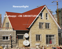 Rugged design Stone Coated Chips Steel Roof Tile