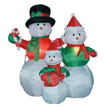 Polyester Product 120cm High Inflatable christmas snowman family
