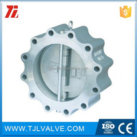 ansi150/pn10/pn16 wafer type dual plate check valve cast iron\/carbon steel check valve vertical check valve 200 psi ce