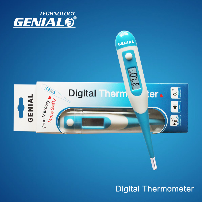 Soft decoration Head LCD Clinical Thermometer Digital Body thermometer