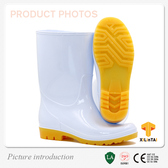 Top Sales White PVC Foodstuff Safety Boots