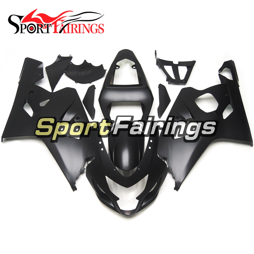 Full Motorcycle Injection ABS Fairing Kits For Suzuki GSXR600 GSXR750 K4 04 05 Year 2004 2005 Matte Black Cowlings Sportbikes