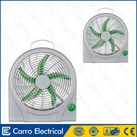 CE certification made in china 12 volt 10inch dc solar battery mini handy fan