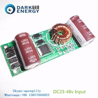 DC to DC drivers 12/24v input voltage booster 30-80v output 10-25w constant current 300ma led driver supply