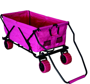 Multipurpose collapsible four wheels garden tool baby kids folded beach camping trolley hand cart folding wagon