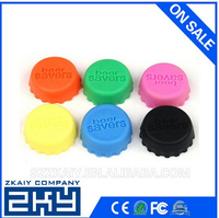 Pop colorful Silicone beer cap Silicone beer saver inwine stoppers reusable silicone bottle cap