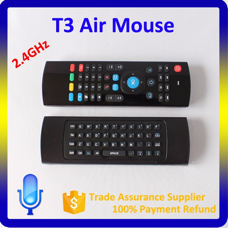 Air Mouse T3 Rechargeable Wireless Air Fly Mouse And Keyboard Combo For Android Tv Box