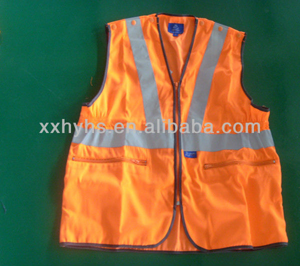 polyester/cotton high visibility security vest for safety