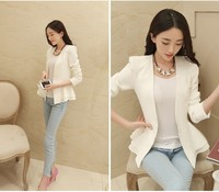 2 colors 2015 spring Autumn elegant white lady suit