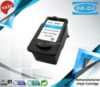 Factory price printer compatible ink cartridge for Canon CL-511 remanufactured with high quality