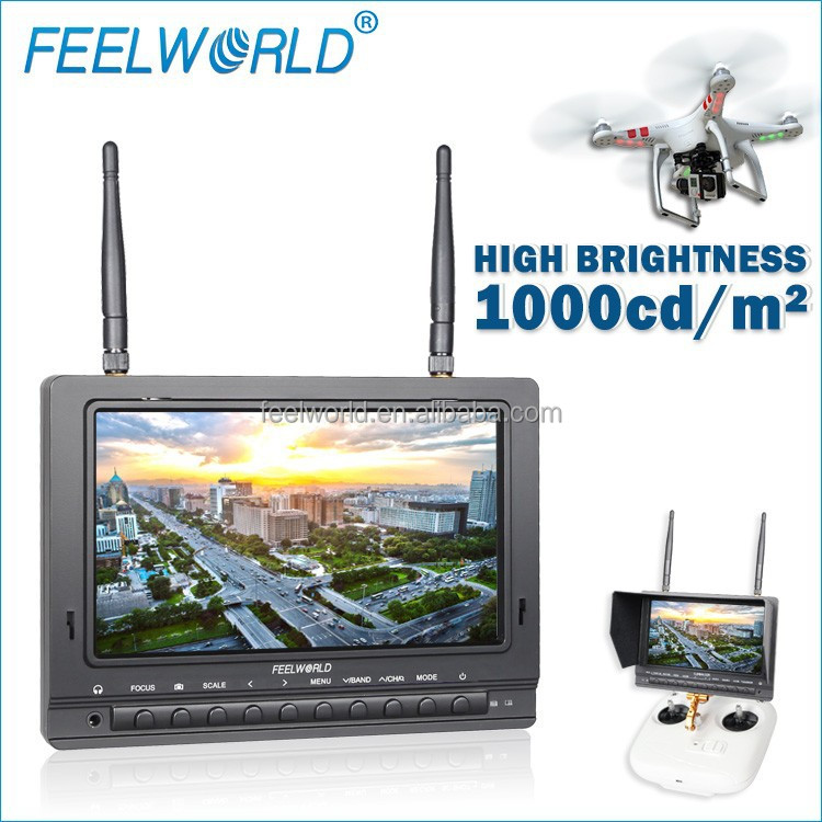 FEELWORLD 7 inch high brightness 1000cd/m anti reflective matte hdmi screen monitor metal pro helicopter