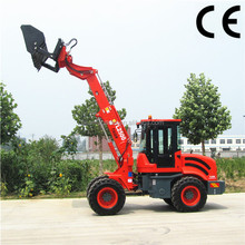 2.5 ton wheel loader TL2500 telescopic loader tractor with high tip bucket for sale
