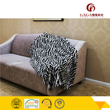zebra pattern Professional plained coloured soft and thick coral fleece blanket, Giraffe or Tiger or Zebra or Leopard print