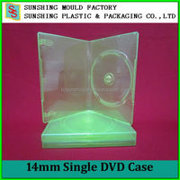 Green color 14mm PP Single DVD Plastic Case