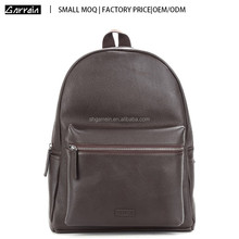 Small MOQ Shanghai Factory Genuine Leather Unisex Daily Used Simple style Backpack