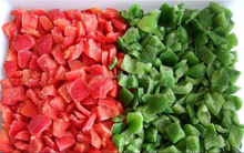 Supply New Crop frozen vegetables good brand IQF frozen pepper red bell pepperdice