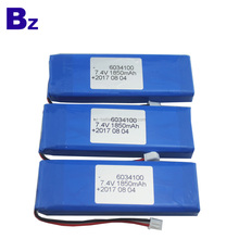 China Supply Lithium Battery BZ 6034100 2S 1850mAh 7.4V Rechargeable LiPo Battery Pack
