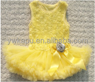 2016 New Style Children Frocks Designs One Piece Party Girls Dresses, High Quality Girls Rosette Sundress,Baby Girls Skirt