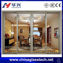 CCC certificate design and color customized clear glass aluminium inner door
