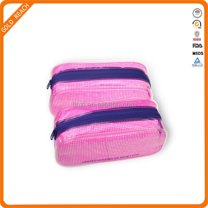 Newest Design Printed Beautiful Clear PVC Makeup Case