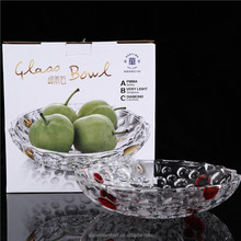 2017 hot selling clear glass fruit dish and plate high quality glassware for tabletop decoration wholesale price