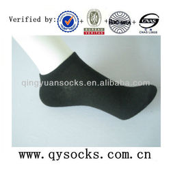 Women's crew socks with plain color in balck grey white blue