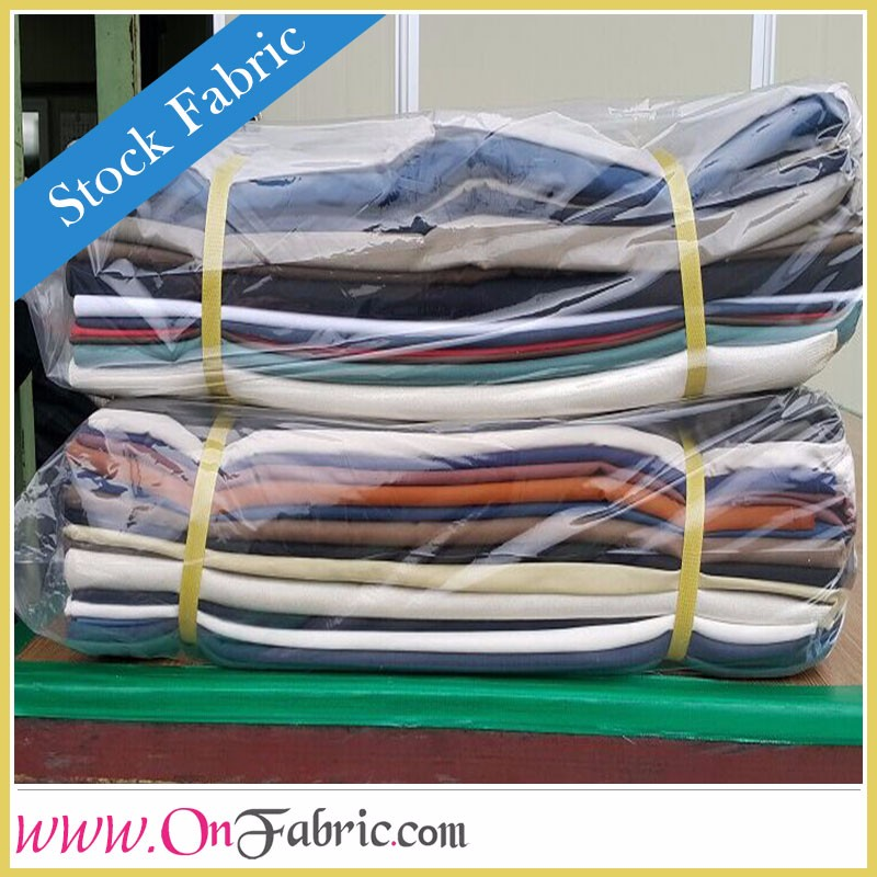 Cotton Linen Solid Dyed Textile Remnant Stocklot Fabric In China