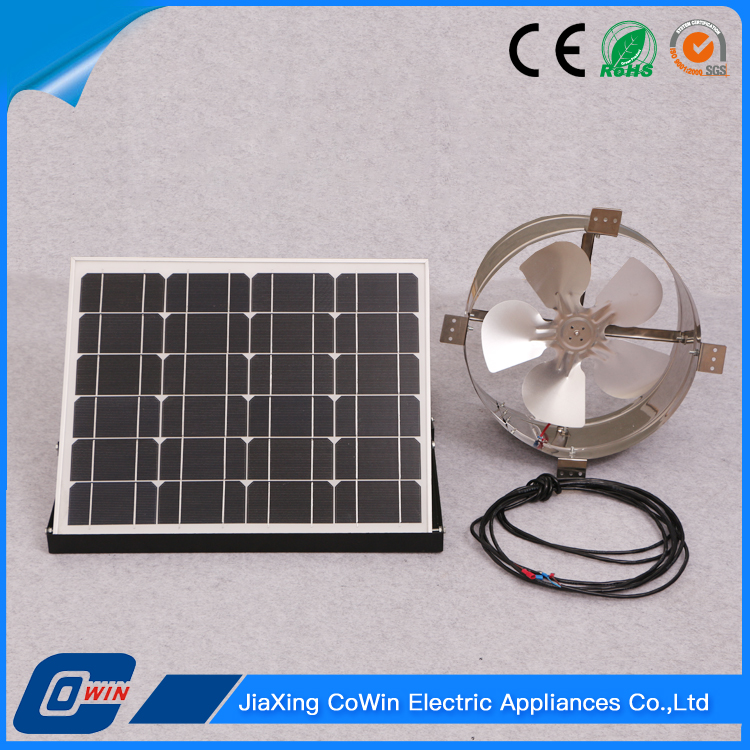 Best Quality Housing 25W Solar Panel Wall Fan