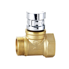 Brass direct magnetic locking stop valve sanitary check valve electrical bronze ball valve