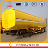 China tri-axle 45000 litres fuel tanker trailer sale for Nigeria
