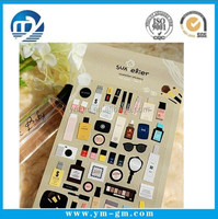 Happy Cat stationery makeup series diary stickers Gilding style DIY deco sticker