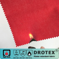 flame retardant textile cotton FR anti-static oil-water repellency satin fabric for clothing