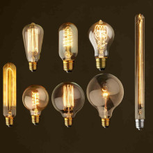 Loft Vintage Edison Bulbs ST64 G95 G80 E27 Incandiscent Light Bulbs 40W 110V 220V Filament Bulb Edison LED Pendant Lamps