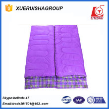 nylon shell flannel liner cotton sleeping bag double