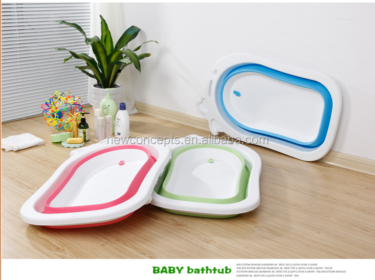 High quality plastic folding baby bath tubs
