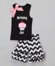 High quality OEM kids tank top and ruffle shorts clothing set boutique children girls birthday party wear outfits