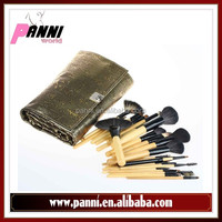 Super facial make up brush 26pcs brushes set with bronzy chinoiserie pouch