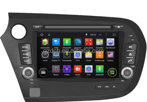5.1 android car dvd player for HONDA Insight 2010- 1024*600 quad core 1G+16G WS-9445